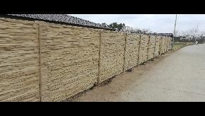 Betonový plot štiepaný kameň pieskovec
