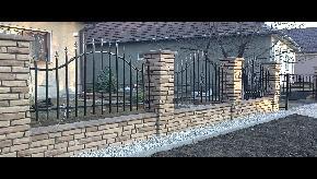 Murovaný plot  vzor stará tehla