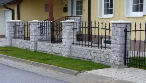 Murovaný plot  vzor opracovaný kameň
