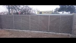 Brána lamelová na koľajnici